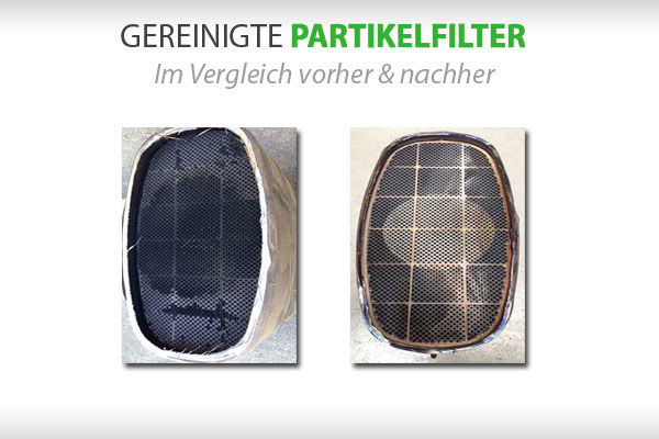 Dieselpartikelfilter reinigen vorher und nachhher