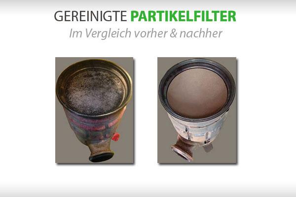 Rußpartikelfilter reinigen vorher und nachhher